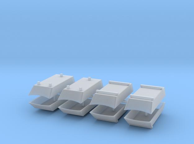 Dachaufsatz Hochdach Mix-Set für Roco VW T4 8erSet in Smooth Fine Detail Plastic