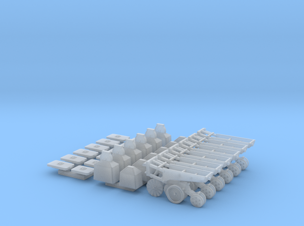 1/64 7200 Series Row Units, 6 pack, No-till in Smooth Fine Detail Plastic