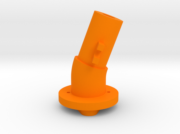 Thrustmaster joystick tailpiece 20 deg. tilted in Orange Processed Versatile Plastic