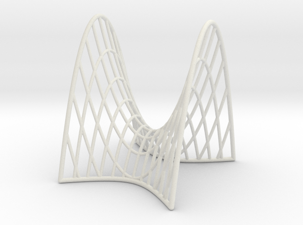 Hyperbolic Paraboloid with cross sections in White Natural Versatile Plastic