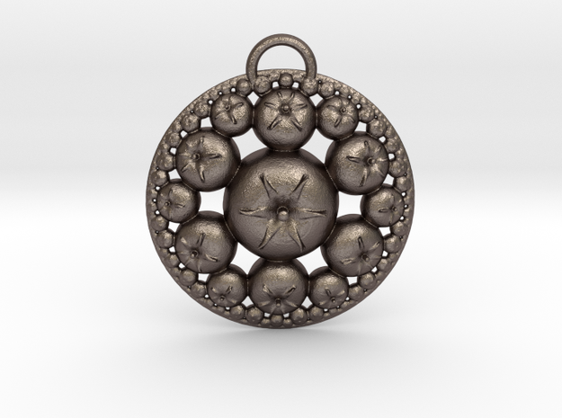 IF Hyperbolic Tomatoes in Polished Bronzed Silver Steel