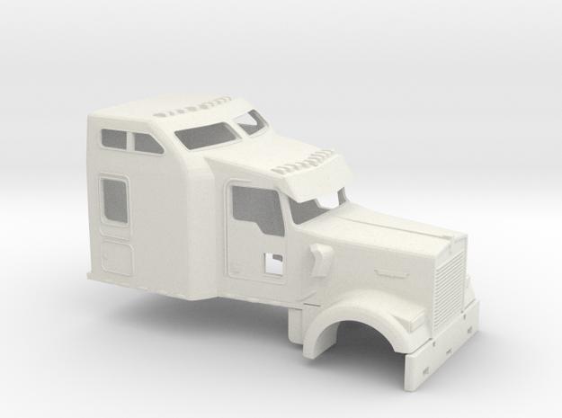 1/50 Kenworth W900 Cab-Sleeper in White Natural Versatile Plastic