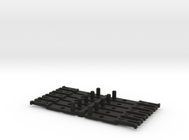 OO NEM Type 4 Coach Drawbar X10 in Black Natural Versatile Plastic