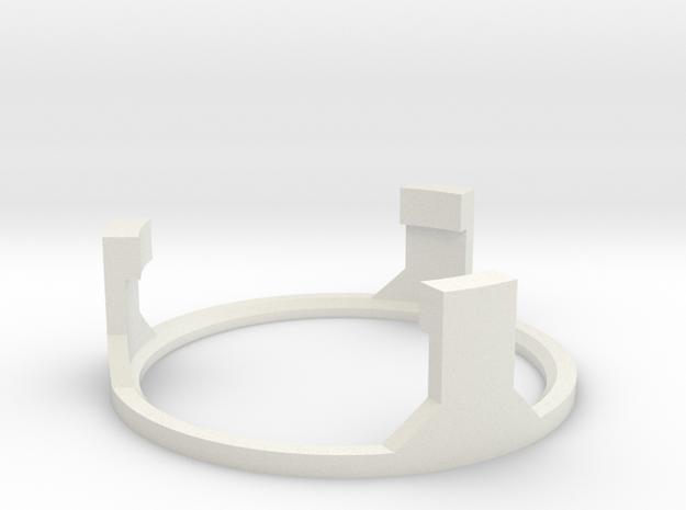 DV6 - Part (7/7) SpeakerholderTop in White Natural Versatile Plastic