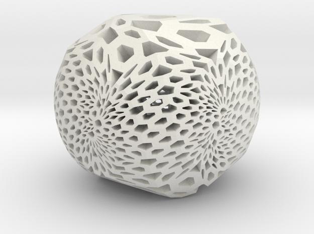 Tri-Loxo Pendant II in White Natural Versatile Plastic