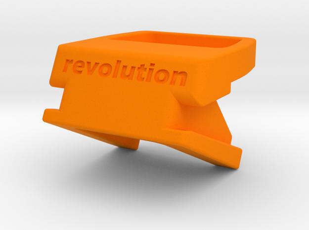 Fizik ICS Topeak Quick-Clip Mount in Orange Processed Versatile Plastic