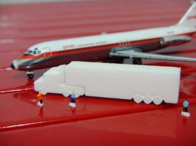 Airport GSE 1:400 Scania Truck Trailer Refrigerato in White Strong & Flexible Polished