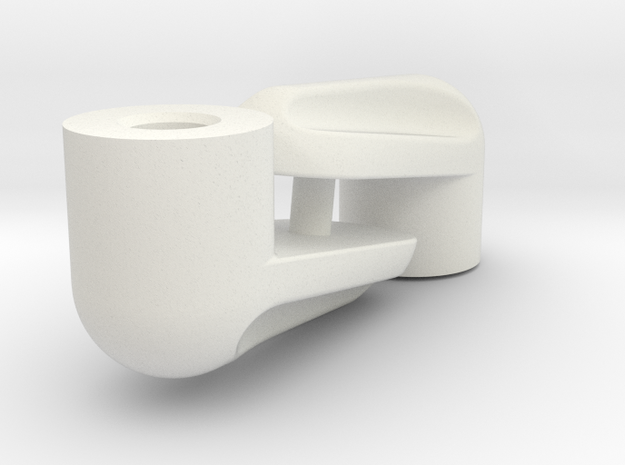 Buri Rear Clipless Body Posts in White Natural Versatile Plastic