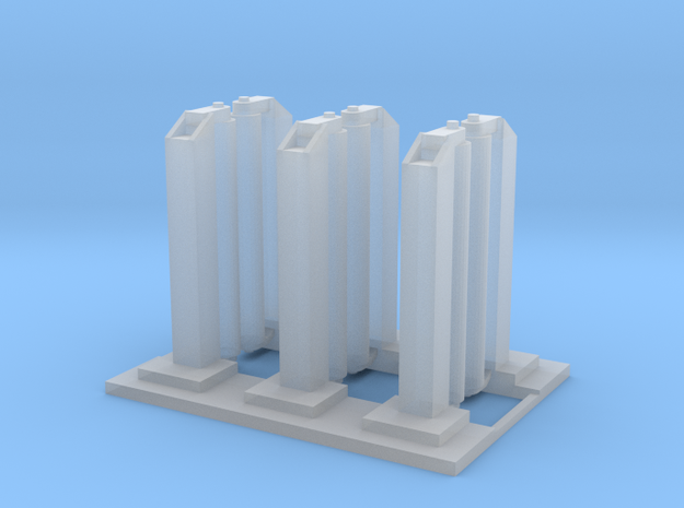 'N Scale' - Wash Station - Single Unit in Smooth Fine Detail Plastic