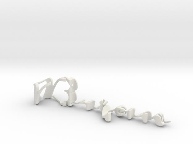 3dWordFlip: Brian/Candace in White Natural Versatile Plastic