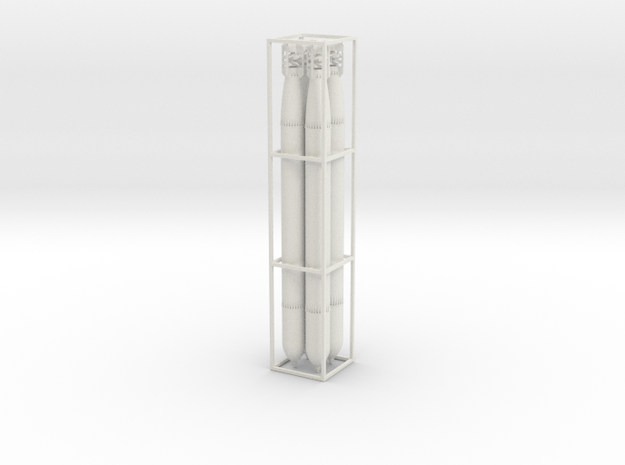 4 G7a Torpedos scale 1:50 aus einem Teil in White Natural Versatile Plastic