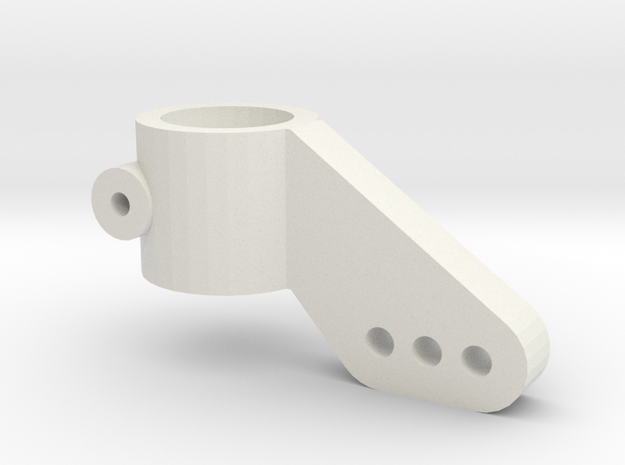 Traxxas 3D Steering Knuckle Single in White Natural Versatile Plastic