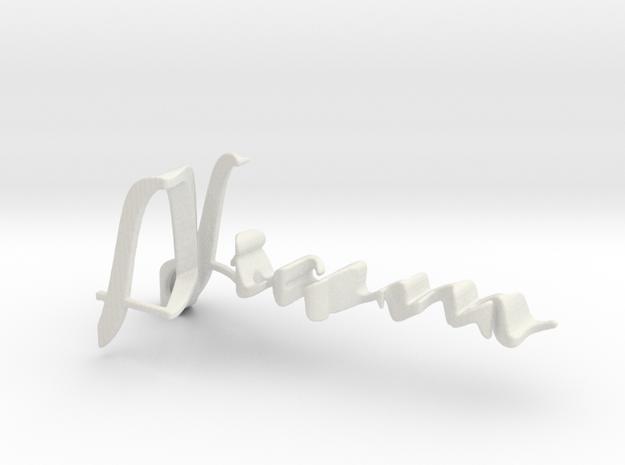 3dWordFlip: Liam/Zaira in White Natural Versatile Plastic