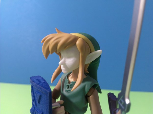 Figma Link to the Past Face in White Processed Versatile Plastic