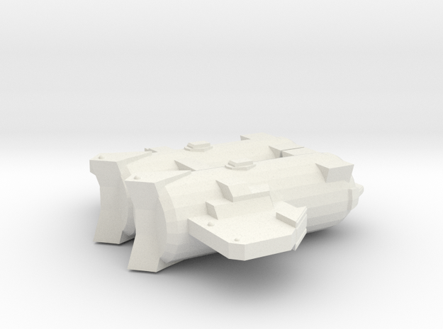 3788 Scale Probr Medium Cruiser (CM) MGL in White Natural Versatile Plastic