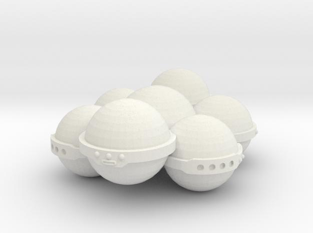 3788 Scale Koligahr Short Carrier MGL in White Natural Versatile Plastic