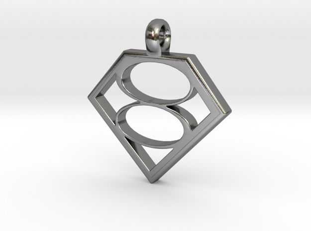 Smallville House of El necklace V2 in Polished Silver