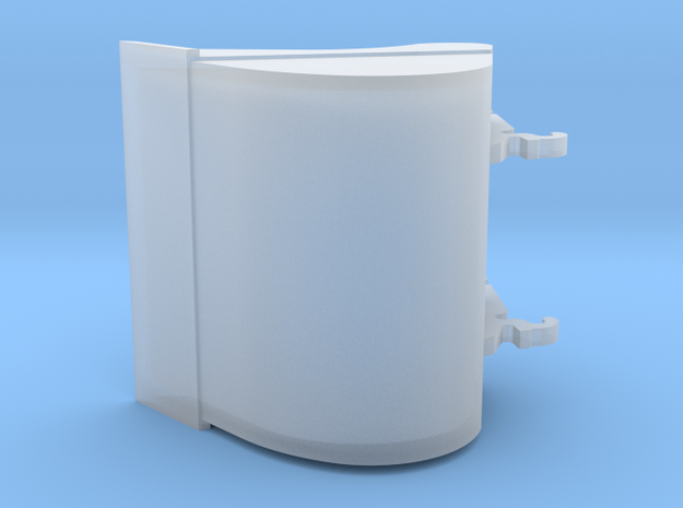 sleuvenbak 1200mm 3D in Smooth Fine Detail Plastic