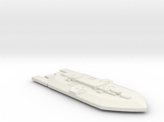 3788 Scale Frax Battleship (BB) MGL in White Natural Versatile Plastic