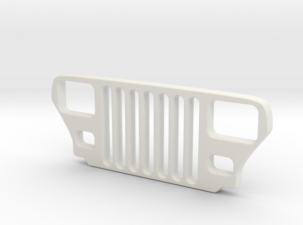 Jeep YJ Grill Keychain in White Natural Versatile Plastic