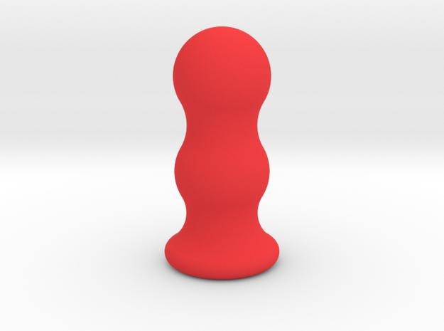Ben Wa Balls shaped plug in Red Processed Versatile Plastic