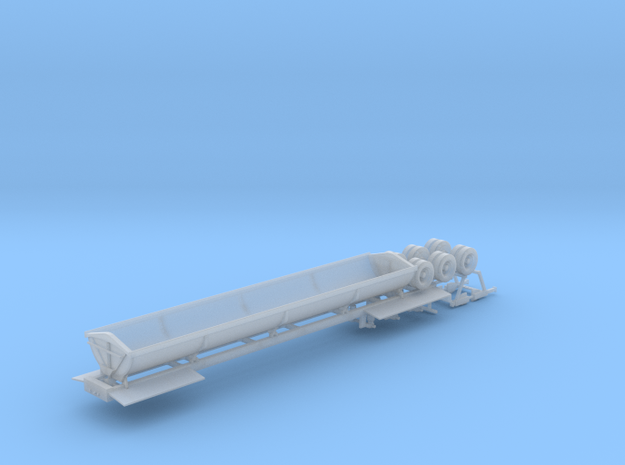 N Side Dump Trailer in Smooth Fine Detail Plastic