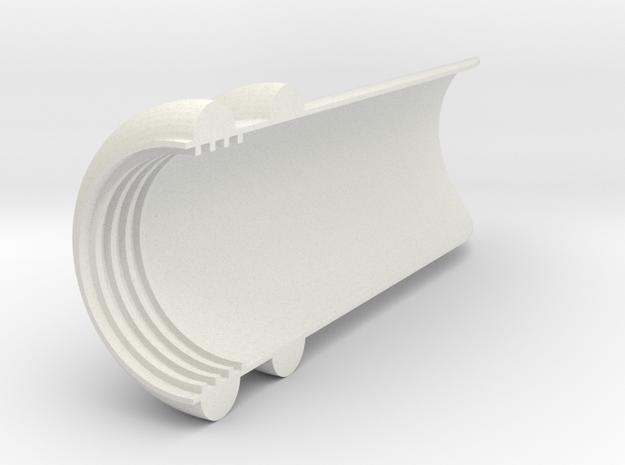 The visor for CREE XM-L T6 in White Natural Versatile Plastic