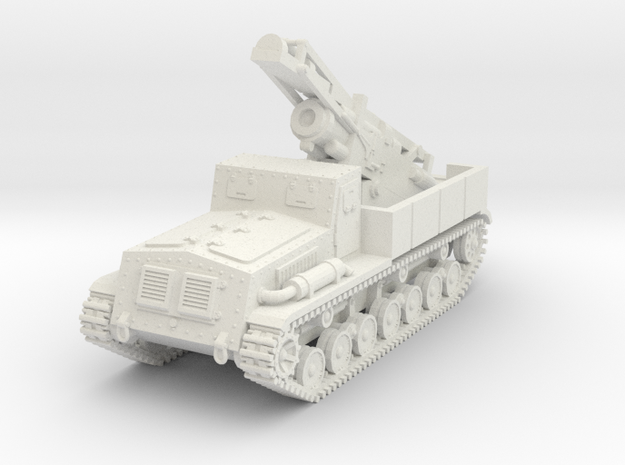 1/72 Type 4 Ha-To heavy mortar in White Natural Versatile Plastic