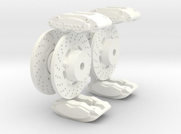 Calipers 1/12 & rotors  V1 x4