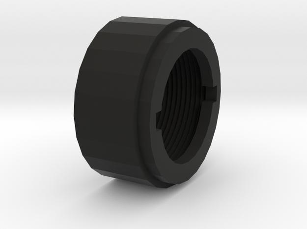 M4 Barrel Nut in Black Natural Versatile Plastic