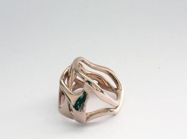 Clio ring in 14k Rose Gold Plated Brass