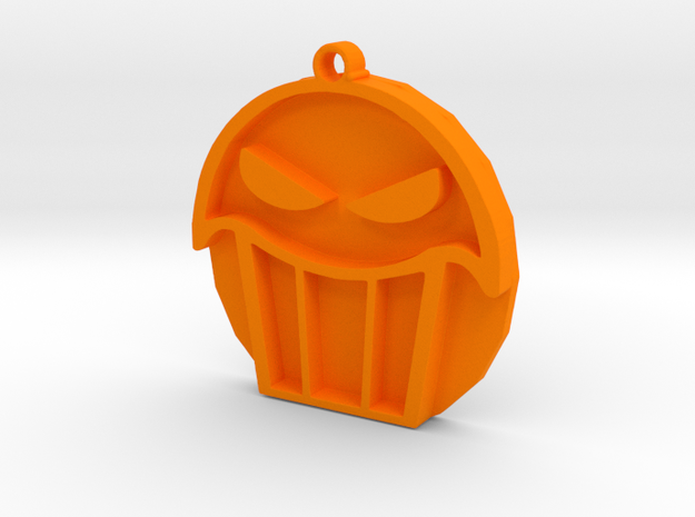 Seattle Muffin Tops Pendant in Orange Processed Versatile Plastic