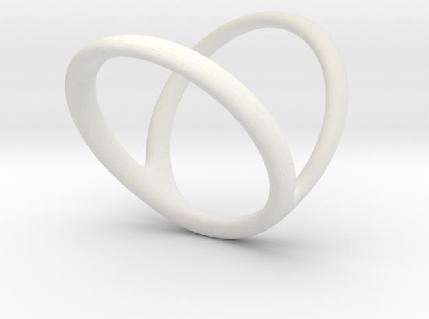 ring for Jessica ring-finger in White Natural Versatile Plastic