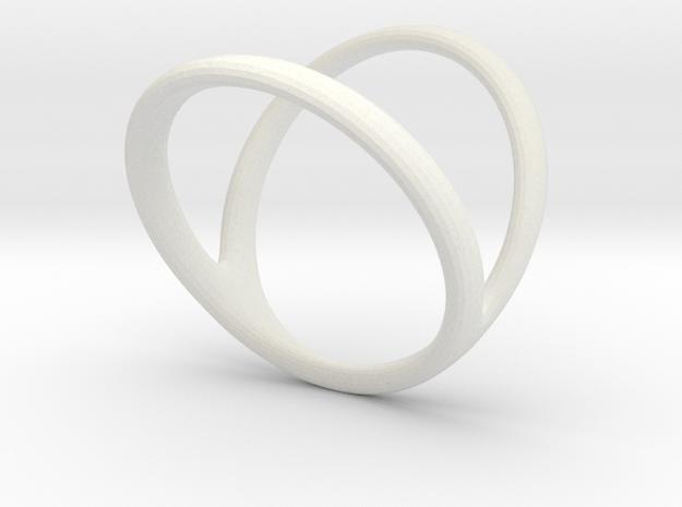 ring for Jessica thumb-finger in White Natural Versatile Plastic