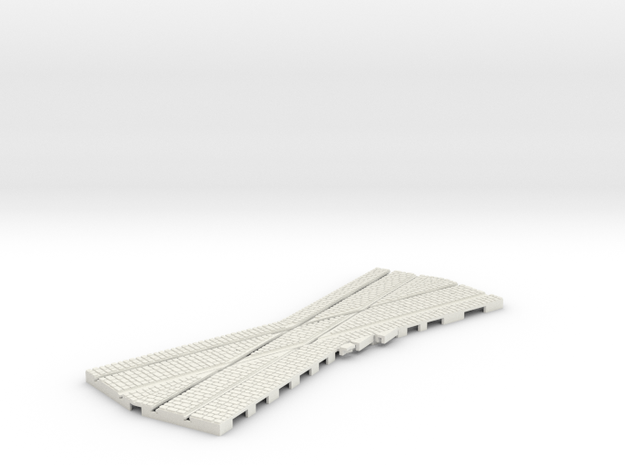 P-12-165stw-rh-22-5-mixed-crossing-1a in White Natural Versatile Plastic
