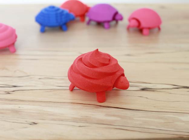 Squishy Turtle - Soft Serve in Red Strong & Flexible Polished