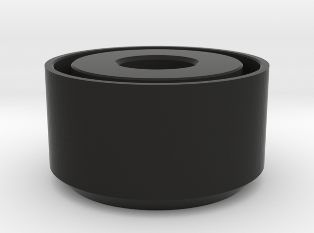 Archimedes End Cap in Black Natural Versatile Plastic