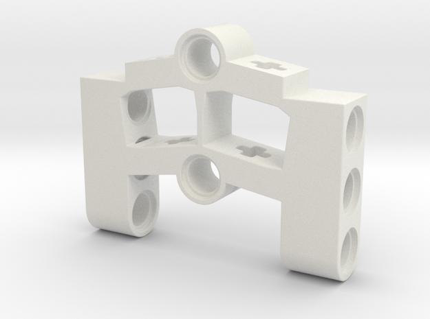 Wheelholder for turntablesupport 11m in White Natural Versatile Plastic