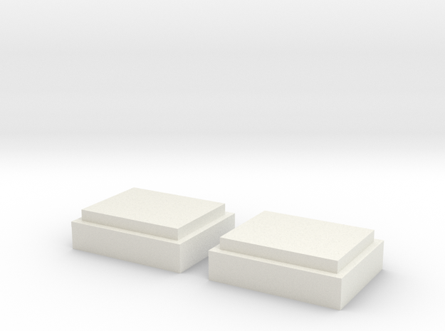 1-6 Scale Micro Switch Chestbox Lens Covers in White Natural Versatile Plastic