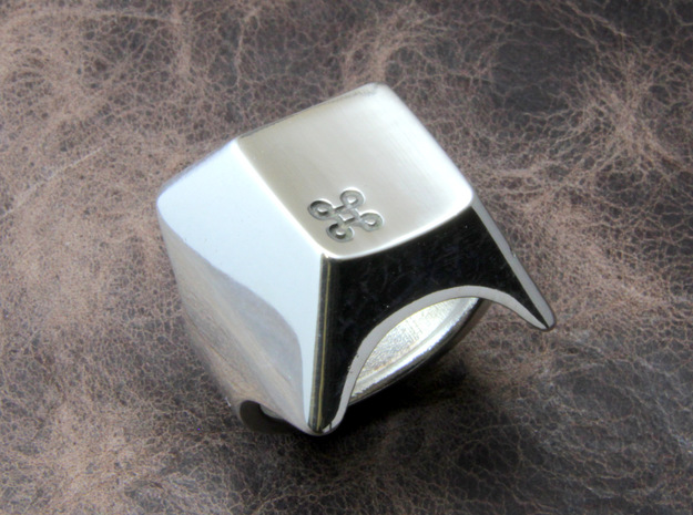 Keyboard Ring in Polished Silver