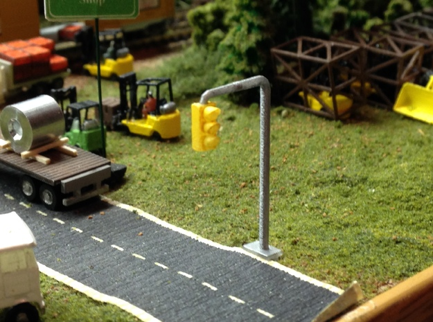 Traffic Lights in Smooth Fine Detail Plastic