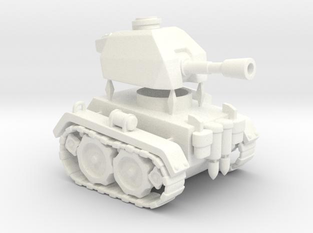 Mini Tank in White Processed Versatile Plastic