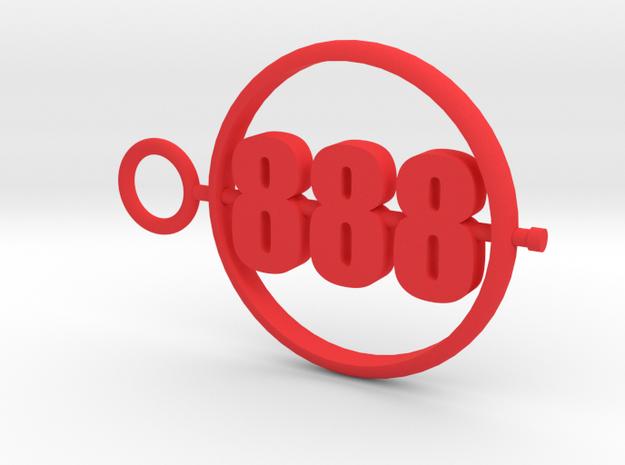 888_50mm in Red Processed Versatile Plastic