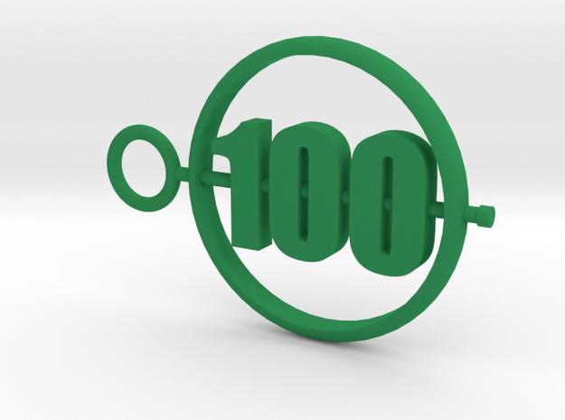 100_50mm in Green Processed Versatile Plastic