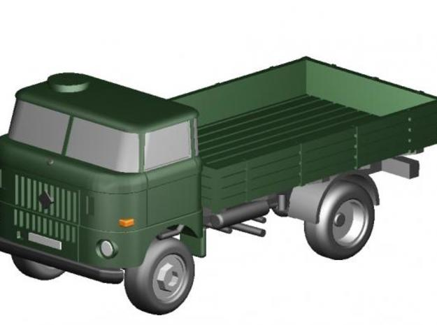W50 Pritsche-Militär (kurz) / Flat bed-Military in Frosted Ultra Detail