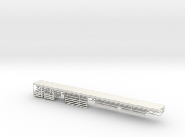 Service Walkway Kit 50ft HO 87:1 Scale in White Natural Versatile Plastic