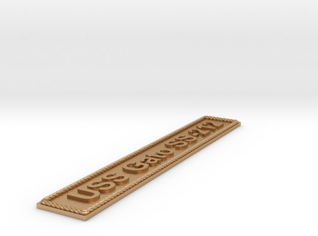Nameplate USS Gato SS-212 in Natural Bronze