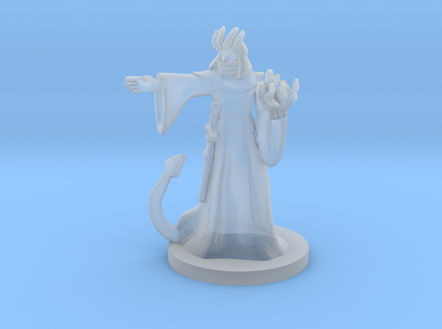 Tiefling Male Warlock / Sorcerer - Four Horns in Smooth Fine Detail Plastic