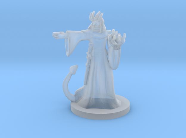 Tiefling Male Warlock / Sorcerer - Four Horns in Smooth Fine Detail Plastic