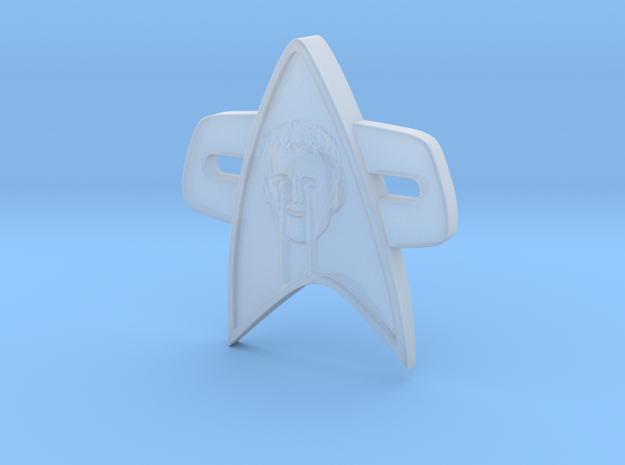 Laser Eyes Corps Comm Badge in Smooth Fine Detail Plastic